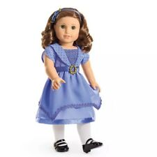 RARE New American Girl Rebecca's Holiday Outfit~Hanukkah Blue Dress~Shoes~tights