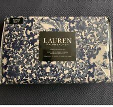Ralph Lauren Porcelain Tamarind Bird KING 3pc SET Duvet Cover &SHAMS Chinoiserie