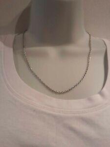 Silver Colour plain Chain Necklace. New