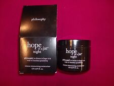 Philosophy Hope in a Jar Night 120 ml/ 4 fl oz Luxury Size *sealed and in box*