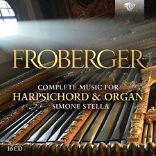 SIMONE STELLA - MUSIC FOR HARPSICHORD & ORGAN  16 CD NEU FROBERGER,JOHANN JAKOB