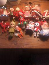 Vintage Christmas Santa Ornaments, Decorations-Large Lot