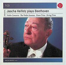 Jascha Heifetz Plays Beethoven 7-CD (NEW) Violin Concertos/Sonatas/Piano Trios