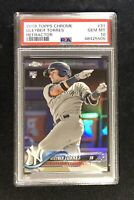 2018 Topps Chrome GLEYBER TORRES REFRACTOR RC/ROOKIE YANKEES #31 PSA 10 GEM MINT