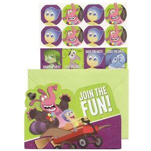 Disney Pixar Inside Out Birthday Party 8ct Invitations & Envelopes