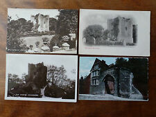 Lot86h 4x Views of GUILDFORD CASTLE Grounds OLD GATEWAY Postcards