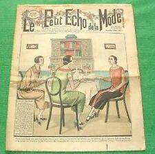 c1925 Great Art Deco Gatsby Jazz Era French Fashion Newspaper D45