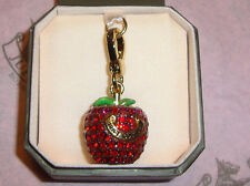 Juicy Couture Pave Apple Charm Bracelet/necklace/Bag