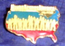 CD095 Vtg May 25 1986 Hands Across America Lapel Pin