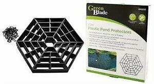 20 Plastic Pond Guard Protectors Black