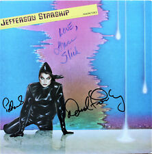 Grace Slick +2 signed Jefferson Starship Record Modern Times Airplane!