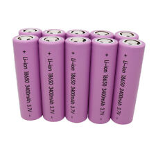 10X 18650 3400mAh Li-ion Batería Recargable High Drain Battery para Vape Mod Pen