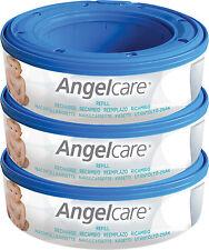 Angelcare pannolino BIDONCINO getta pannolini sistema 3 Ricarica Cassette per cambio neonato NUOVO CON CONFEZIONE