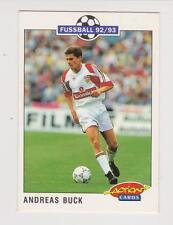 Panini Fussball 92-93 Action Cards #210 Andreas Buck VFB Stuttgart
