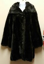 Sears Fashions 10 Brown Fur Coat Heavy Winter Vintage Made in USA Faux Fur