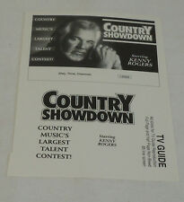 Uncut TV Ad Slick ~ Country Showdown Music Talent Contest starring KENNY ROGERS