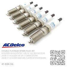 ACDELCO PLATINUM SPARK PLUGS V6 ALLOYTEC SIDI MOTOR [HOLDEN VE-VF COMMODORE]