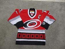 Koho Ron Francis Carolina Hurricanes Hockey Jersey Youth Medium Red SEWN Kids