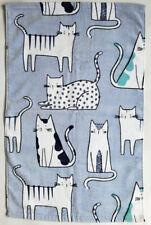 Artisan NY Home- Hand Towel Velour Cotton - Cats on Gray