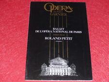 COLL.LE BOURHIS DANSE BALLET PROGRAMME PARIS OPERA / Roland PETIT Créations 1994