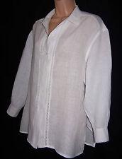 Laura Ashley vintage spring'95 linen lace insert blouse-shirt style, size 12 UK