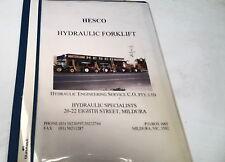 HESCO HYDRAULIC FORKLIFT   Operators Manual