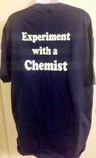 Experiment With A Chemist Large Graphic T-Shirt Science Blue L New crew neck