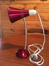 Vintage / Retro Red Anodised Bed / Desk Lamp