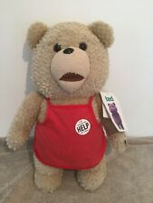 "Ted Movie 18"" Plush Soft Toy Talking 2013 With Tags In Grocery Red Apron"