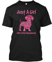 Just A Girl Loves Dachshunds - Who Hanes Tagless Tee T-Shirt