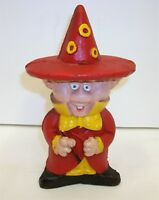 Vintage Cast Iron Hand Painted Wizard Witch Bank