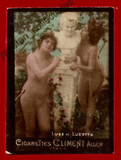 #31733 ALGIERS Algeria 1900s. Ladies with a statue. Tobacco cigarette card CLIME