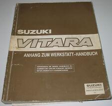 Werkstatthandbuch Suzuki Vitara Anhang Motor Kupplung Getriebe Klima Karosserie!