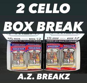 GOLDEN STATE WARRIORS 2020-21 NBA PRIZM - 24 CELLO PACKS - 2 CELLO BOX BREAK #2