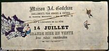 RARE PUBLICITE fin XIXè gravure sur bois lithographie Ad. GODCHAU imp TOLMER&Cie