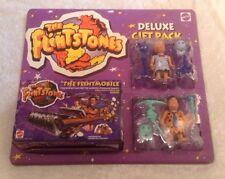 HTF NEW 1993 FLINTSTONES MOVIE  Mattel  Fred, Barney, Flintmobile w/ Sound