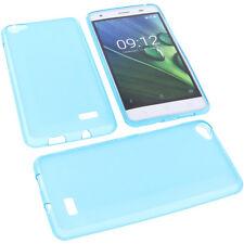 Tasche für Acer Liquid Z6E Handytasche Schutz Hülle TPU Gummi Case Blau