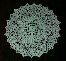 "16 1/4"" Hand Crocheted Dimensional Cotton Thread Doily ""Hazelnut"""