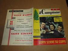 RIVISTA SPORTIVA IL CAMPIONE ANNO 1955 ANNO I° N°14 LOLLOBRIGIDA LOREN ROSETTA