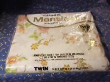 """NIP (Package Has Wear) Cannon Monticello Twin Flat Sheet Floral 39 x 76"""" Mattres"""
