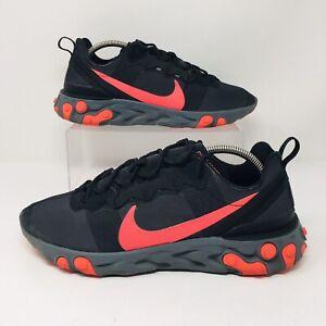 Nike React Element 55 Black Solar (Men's Size 10.5) Athletic Sneaker Shoe