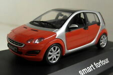 Schuco 1/43 Scale 04692 Smart Forfour Phat red River silver diecast car