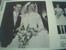 magazine article / picture - 1959 wedding leeds mr p v simpson miss d e newsome