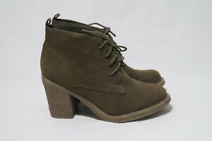 ValleyGirl Retro Size 8 Womens Lace Up Mini Platform Block Heel Boots