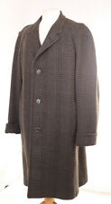 CROMBIE CHECK MEN'S OVERCOAT DRY-CLEANED EXTRA LARGE XXL