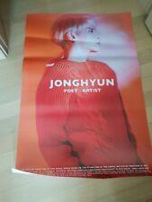 JONGHYUN (SHINee) - Poet | Artist [OFFICIAL] folded POSTER  boma