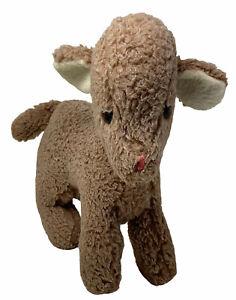 """Vintage Eden Plush Lamb 13"""" Standing Tan Stuffed Animal Toy"""