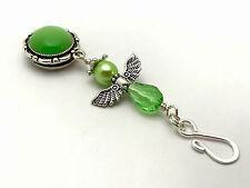 Handmade Magnetic Portuguese Knitting Pin- Green Angel- ID Badge Holder