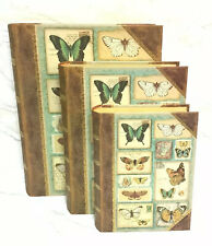 PUNCH STUDIO 3 Nesting Boxes Butterflies With Foil Accents
