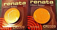 CR2320 RENATA WATCH BATTERIES 2320 (2 piece) New packaging Authorized Seller
